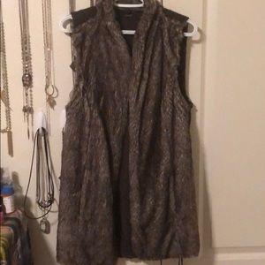 Maurices brand // long faux fur vest // XL